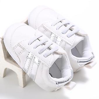Neugeborene Baby Krippe Sportschuhe, & Kleinkind Schnürung weiche Sohle Schuh