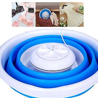 Foldable Mini Washing Household Machine Rotating Ultrasonic Turbines Washer Usb