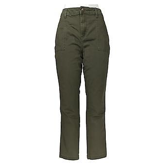 Lee Women's Pants Legendary Slim Tapered-Leg Olive Green