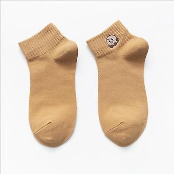 ny mote kvinner's båt ankel lav sokker, søte tegneserie dyr broderi sokker