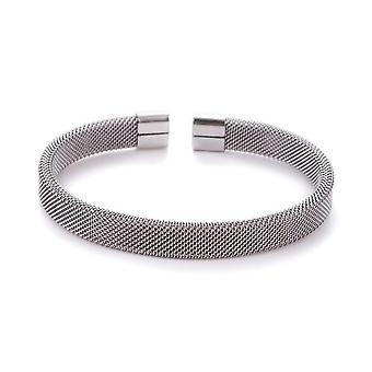 Open Stainless Steel Mesh Bangle Bracelet