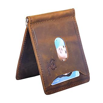 Genuine Leather Design, Slim Wallet & Front Pocket Money Clip, Mini Purse