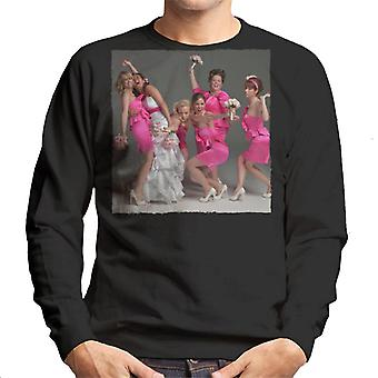 Bridesmaids Bridal Party Wacky Wedding Photo Men's Sweatshirt