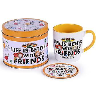 Friends Life Is Better Mug and Coaster Set