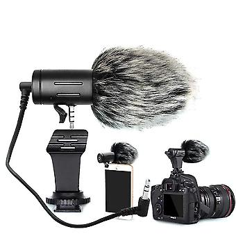 Microphone Mini Portable 3.5mm Condenser - Video Camera With Muff