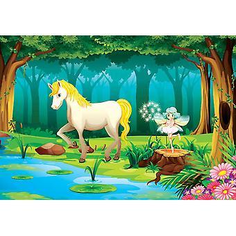 Papel pintado Mural Caballo en la selva (329
