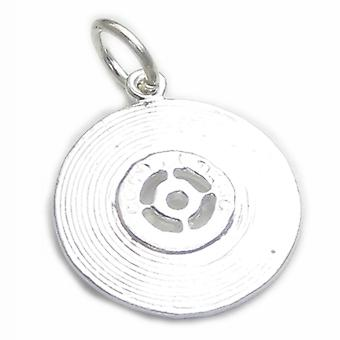 Record Sterling Silver Charm .925 X 1 Records Musik Charms - 4412