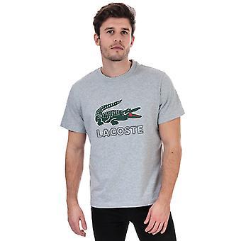 Lacoste T-skjorte for menn&a0>-skjorte i grått
