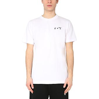 Off-white Omaa027r21jer0010110 Mænd's White Cotton T-shirt