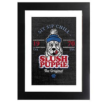 Slush Puppie Retro Sit Sip Chill Framed Print