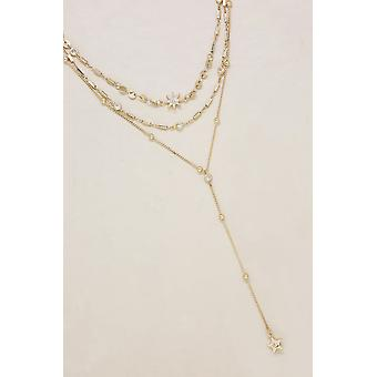 Für immer Stern Fall 18k vergoldet Multi-Chain Halsband