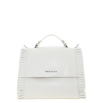 Orciani B01999libertycamelia Women's White Leather Handbag