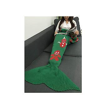 Sirena cola manta hecha a mano crocheted Cocoon sofá punto edredón alfombra