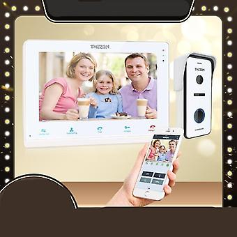 Intercom System,touchscreen Monitor With 720p Wired Door Phone Camera