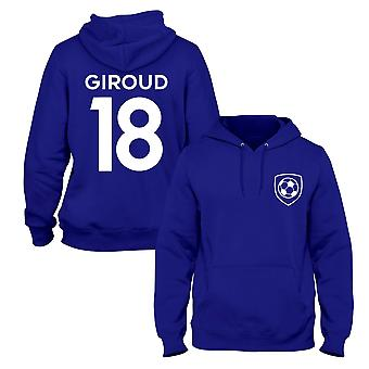 Olivier Giroud 18 Club Style Player Football Hoodie