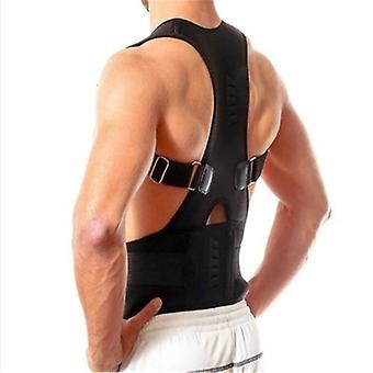 Adjustable Magnetic Posture Back Support Corrector Belt Band Brace Shoulder