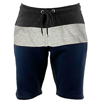 Mens Slim Fit Contrast Fleece Shorts
