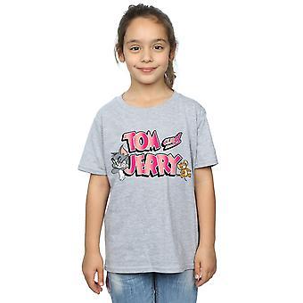 Tom ja Jerry Girls Gradient Logo T-paita
