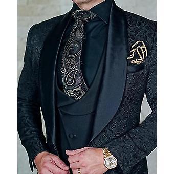 Design italiano in 3 pezzi, smoking smoking smoking tuxedo, terno suits set-4
