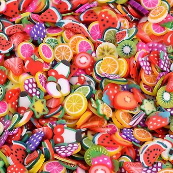 1000pcs Fruit Slices Charms  (1000pcs Without Box)
