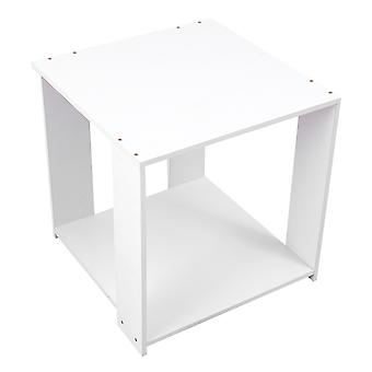 1 Pc Warm White Square Modern Simple Storage Table For Office Bedroom