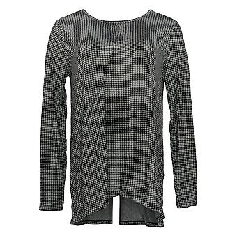 Cuddl Duds Women's Softwear Stretch Keyhole Front Crew Top Gray A381690