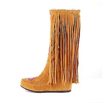 Woman Tassel Knee High Boots