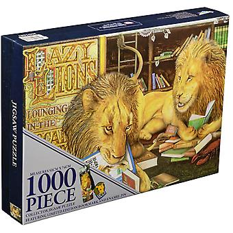 Animalia Lazy Lions 1000 piece Collector Jigsaw Puzzle