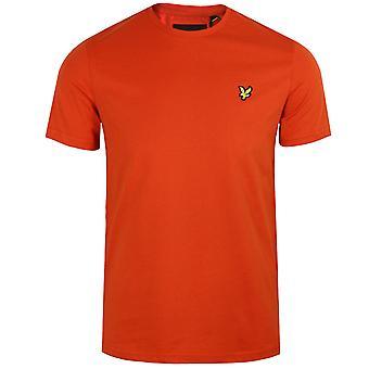 Lyle & scott men's burnt orange t-shirt