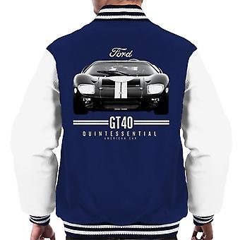 フォード GT 40 クイントエッセンシャル アメリカン カー メン &アポス;s ヴァーシティ ジャケット