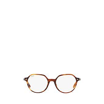 Ray-Ban RX5395 óculos unissex listrados de Havana