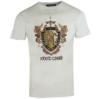 Roberto Cavalli RC Shield Logo White T-Shirt