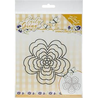 Find It Trading Precious Marieke Die-Nesting Flowers, Early Spring