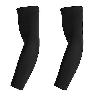 Une paire de manches de compression pour l'entraînement, noir - L