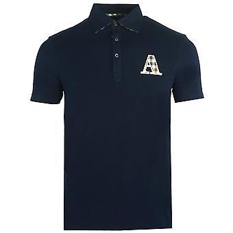 Aquascutum Märke A Logo Navy Polo Shirt