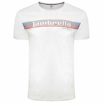 Lambretta Logo Listrar Camiseta - Branco