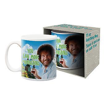 Bob ross - move mountains ceramic mug