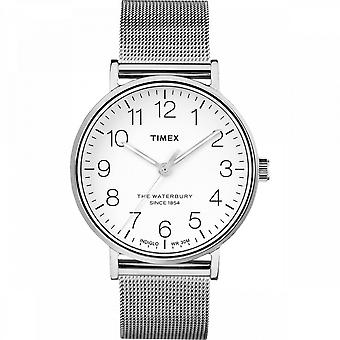 Relógio Timex Masculino - Waterbury Classic 3-hand-apos; 40mm Steel SST Case e Silver Milanese Bracelet - TW2R25800