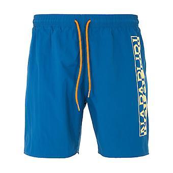 Napapijri Victor Logo Swim Shorts - Poseidon Blue
