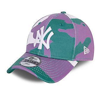 New Era 9Forty Kids Cap - TEAL CAMO New York Yankees