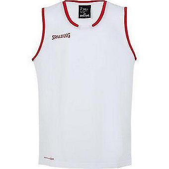 Spalding Move Tank Mens Basket Top FIBA Confirmed Size - Bianco/Rosso