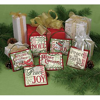 Dimensions Counted Cross Stitch: Ornament: Xmas Sayings: 6