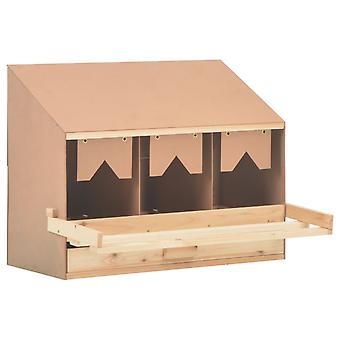 vidaXL Legenest Chicken Nest 3 compartments 72 x 33 x 54 cm solid wood pine