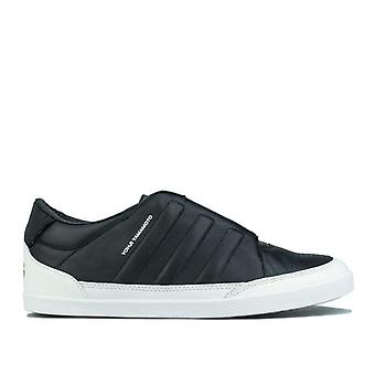 Y-3 adidas men's honja low black and white trainers