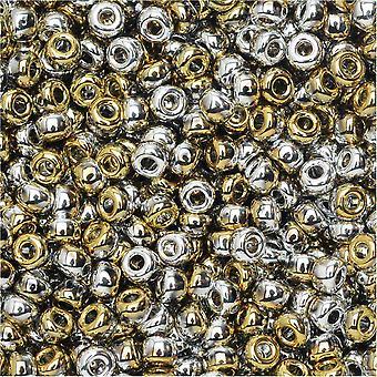 اتحادات Beadsmith ، 8/0 جولة حبات البذور ، 22 غرام أنبوب ، أسود كاليفورنيا الفضة