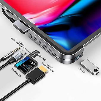 FengChun USB C Hub für iPad Pro 2021 2020 2019, 6 in 1 Typ C auf HDMI 4K Adapter, 100W