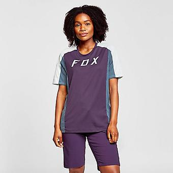 New Fox Women's Defend Short Sleeve Jersey Purple