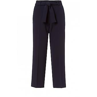 Olsen Navy Anna Cropped Trousers