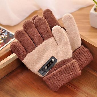 Wool Knitted Full Finger Mittens Student Cute Soft High-quality Gloves