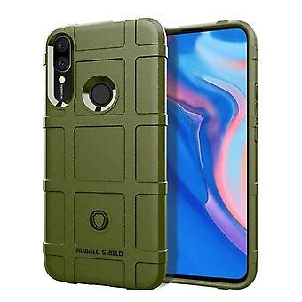 Tpu carbon fibre case for huawei p smart s green mfkj-1478